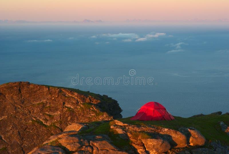 Download Tent on Mountain Ridge stock image. Image of scandinavia - 20084323