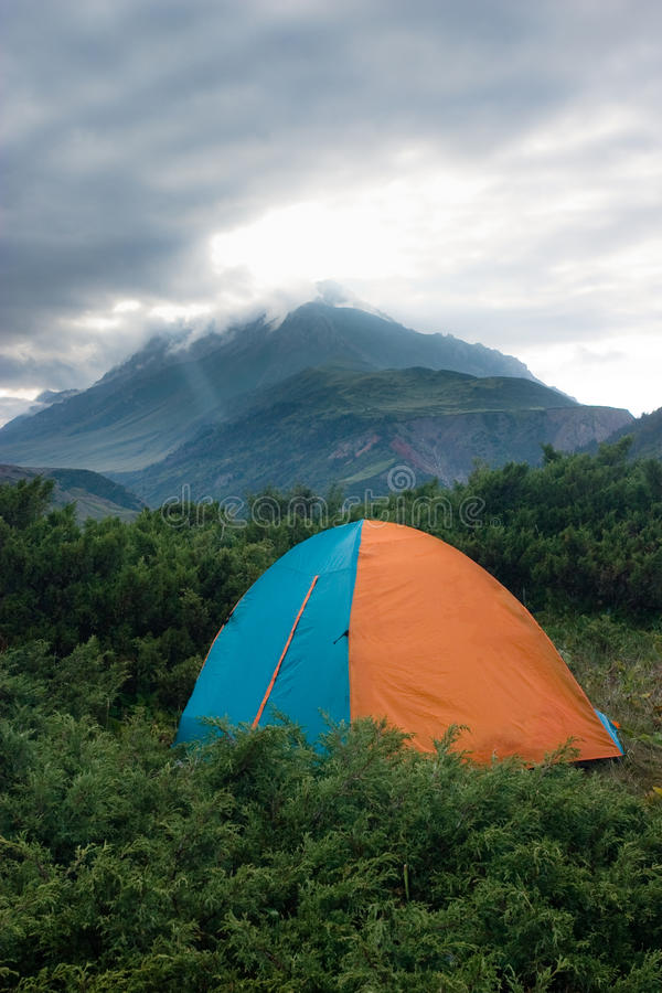 Download Tent At The Mountains. Royalty Free Stock Photos - Image: 11528508