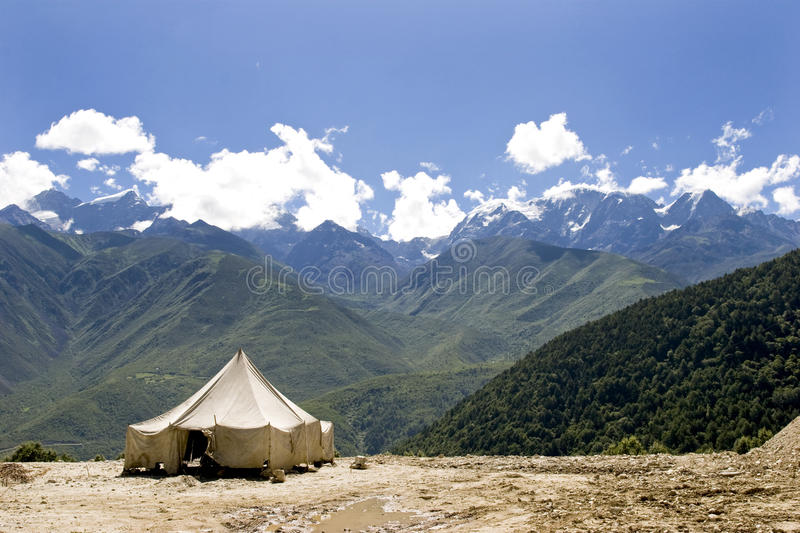 Download Tent in nature stock photo. Image of holiday, nature - 15691126