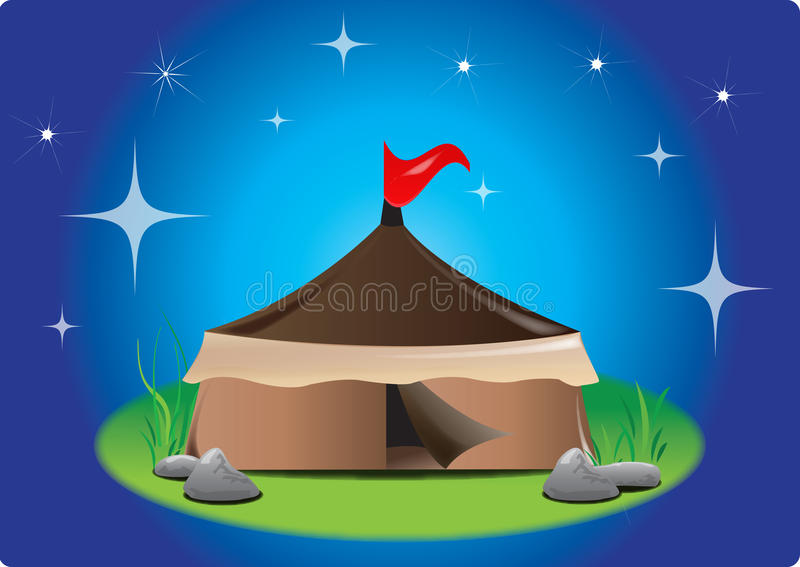 Download Tent at night stock vector. Image of black, home, campsite - 18952638