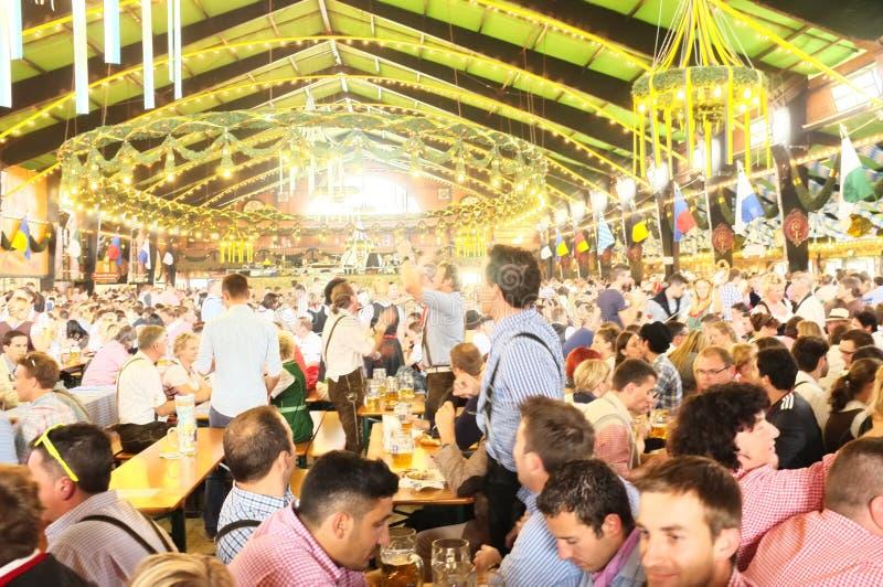 Tent (Oktoberfest 2013). Inside view of a tent at the Oktoberfest (2013 stock image