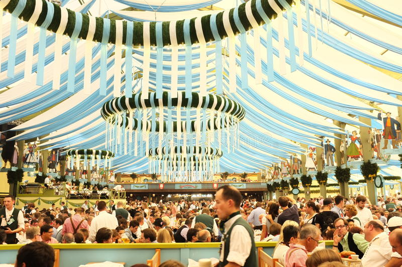 Tent (Oktoberfest 2013) stock photo