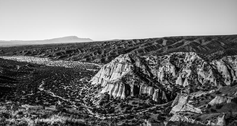 Tent Rocks Black and White royalty free stock photography