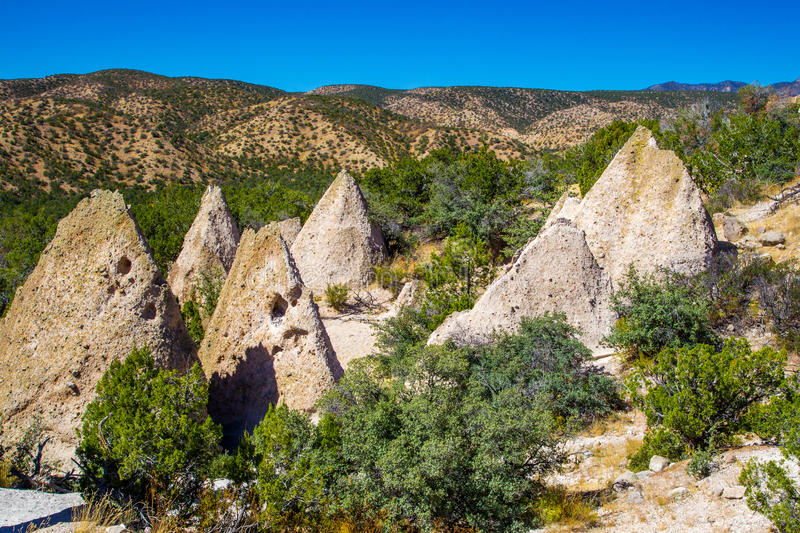 Tent Rocks. Kasha-Katuwe Tent Rocks National Monument, New Mexico royalty free stock photography