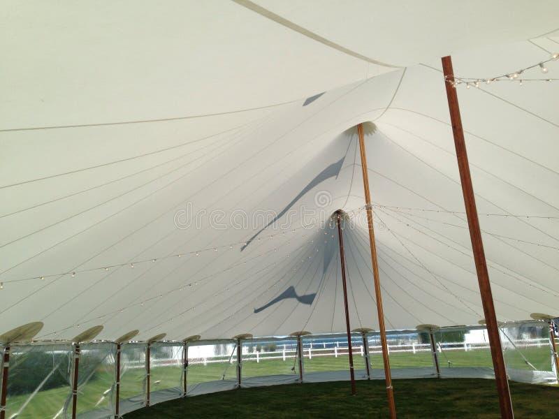 Tent. Sail cloth tent stock photo