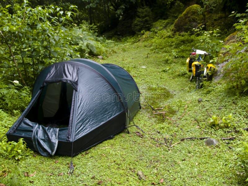 Tent in Swanetia stock photo