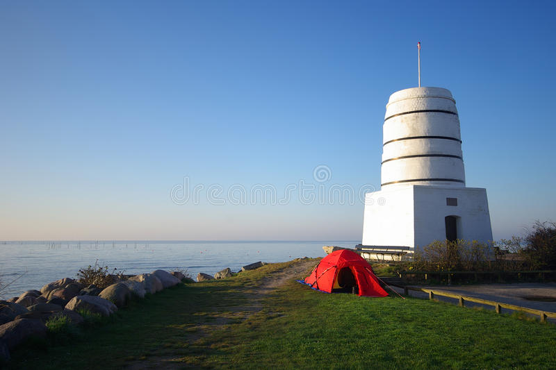 Download Tent At A Tower In Rodvig, Denmark Stock Photo - Image: 20171554