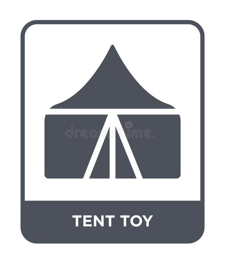 tent toy icon in trendy design style. tent toy icon isolated on white background. tent toy vector icon simple and modern flat vector illustration