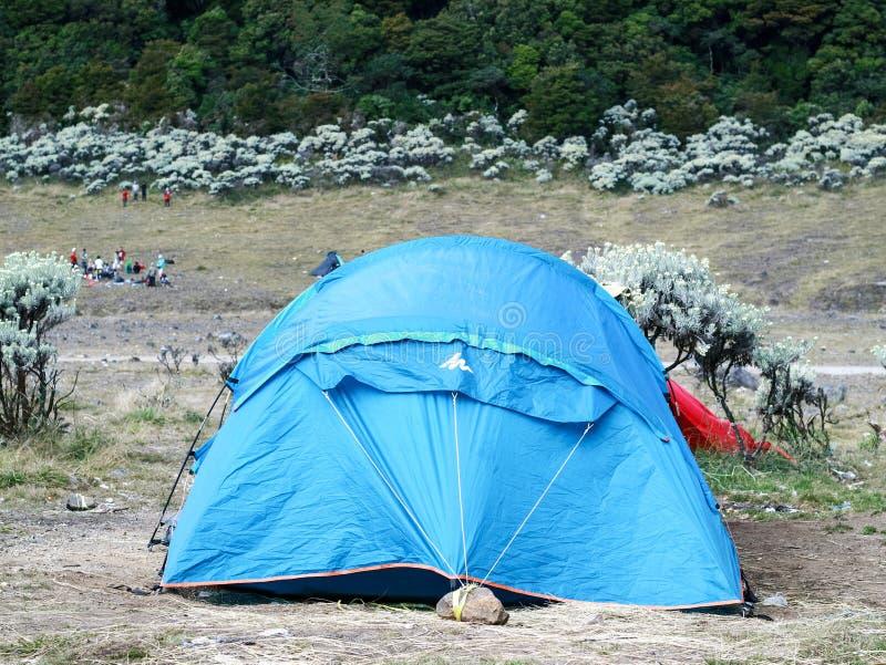 Tent van klimmer royalty-vrije stock foto