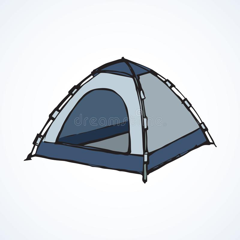 Tent. Vector drawing royalty free illustration