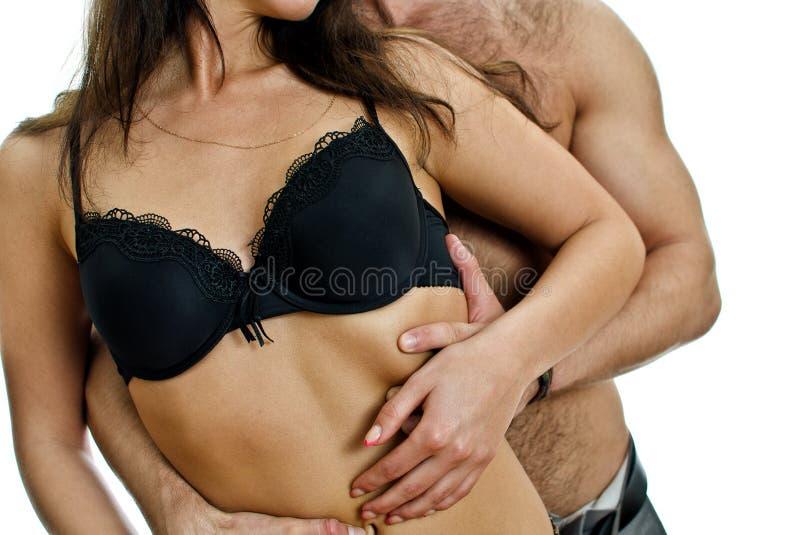 Tentação: corpo masculino e fêmea. foto de stock