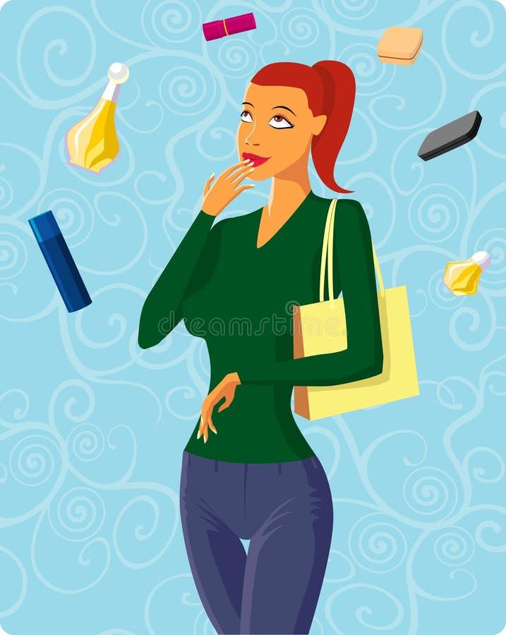 Tentações fêmeas ilustração royalty free