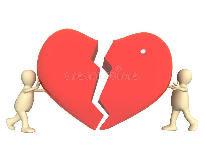 Tentativa de salvar o amor ilustração stock