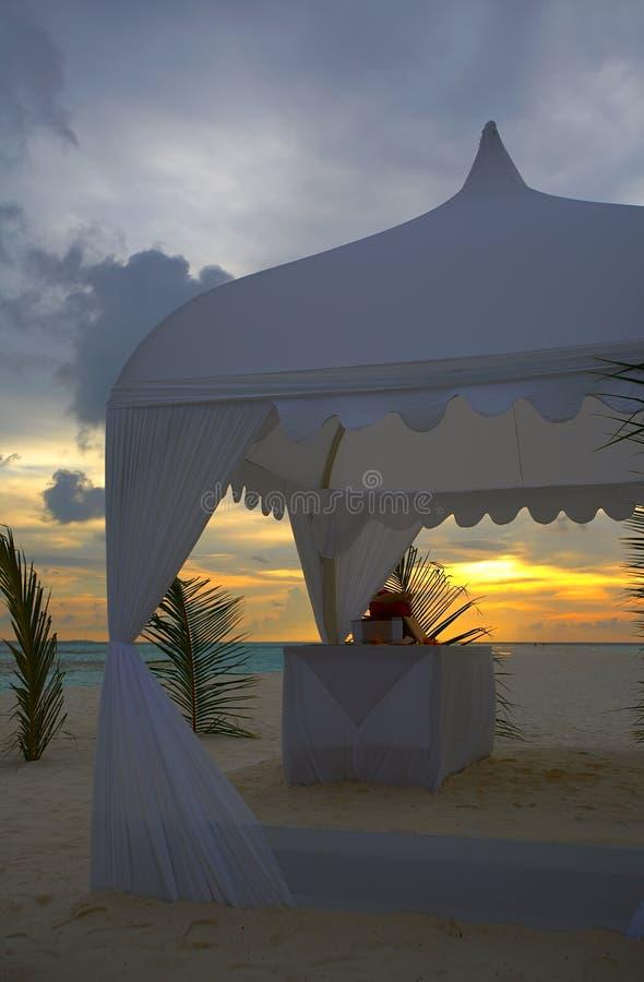 tentbröllop royaltyfri fotografi