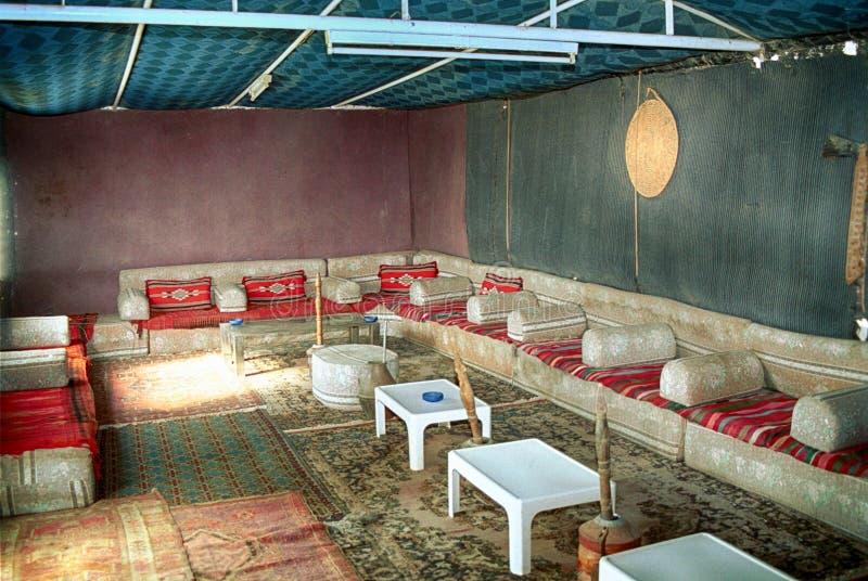 Tente bédouine, Wadi Rum, Jordanie photographie stock