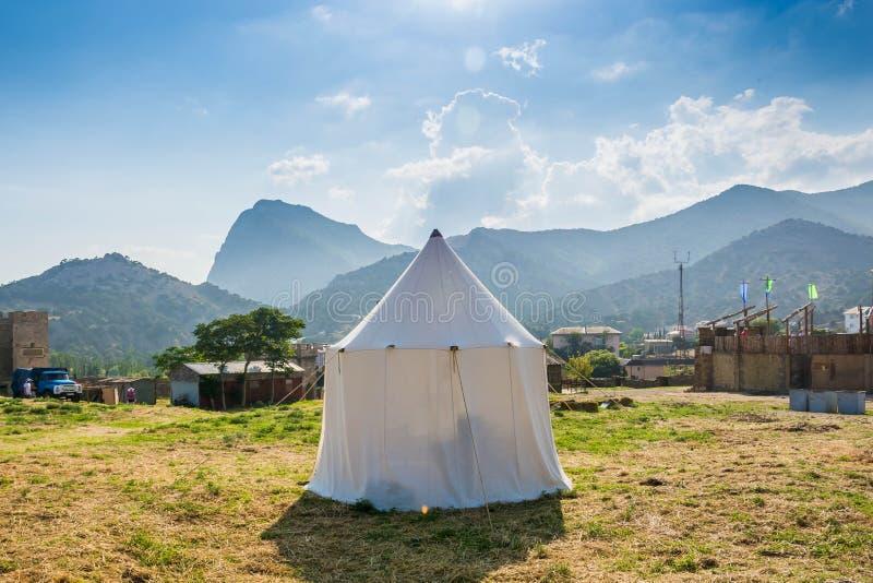 Tente blanche photo libre de droits