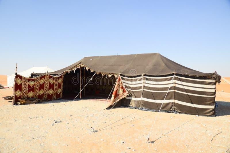 Tente dans le désert photographie stock libre de droits