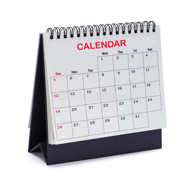 Tente de calendrier photo stock