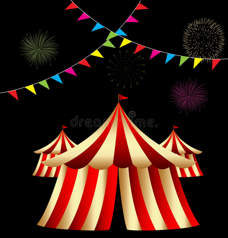 Tente de cirque illustration stock