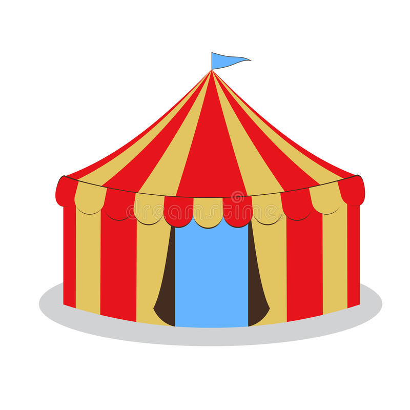 Tente de cirque de retrait illustration stock