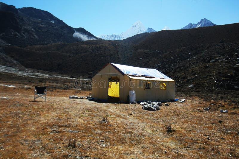 Tente de cuisine de camp de base de dablam d'Ama images stock