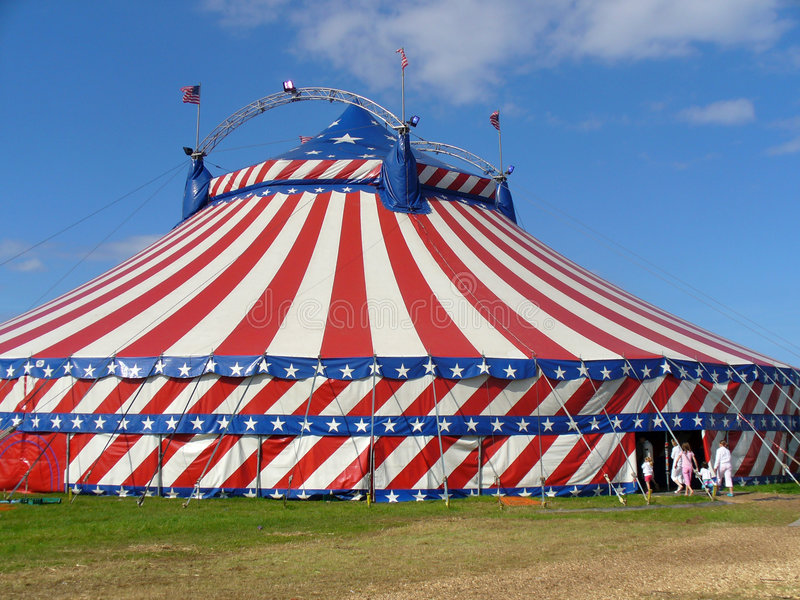 Tente de grand dessus de cirque images stock