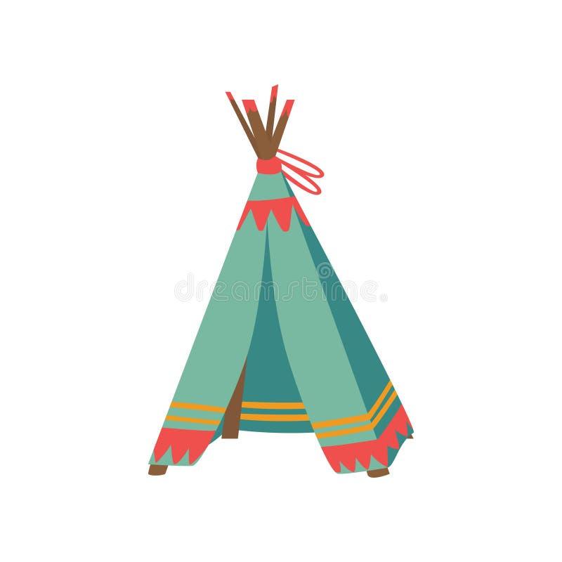 Tente de tepee pour les jeux des enfants, hutte pour l'illustration de vecteur de bande dessinée d'enfant illustration de vecteur