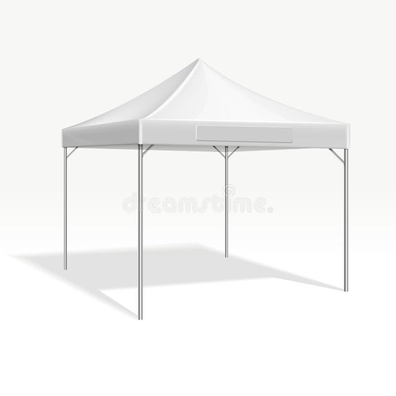 Tente mobile de chapiteau pour le salon commercial Maquette de vecteur illustration libre de droits