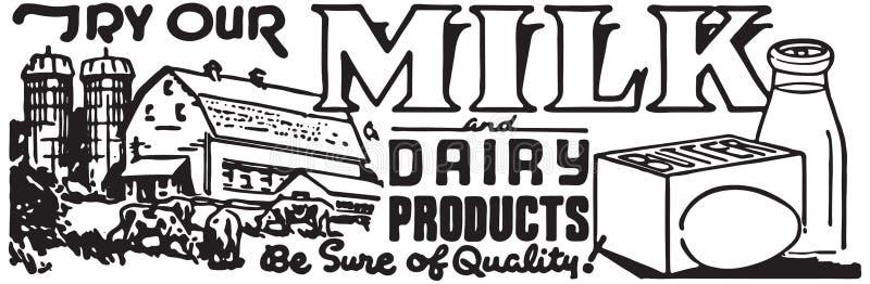 Tente nosso leite ilustração do vetor