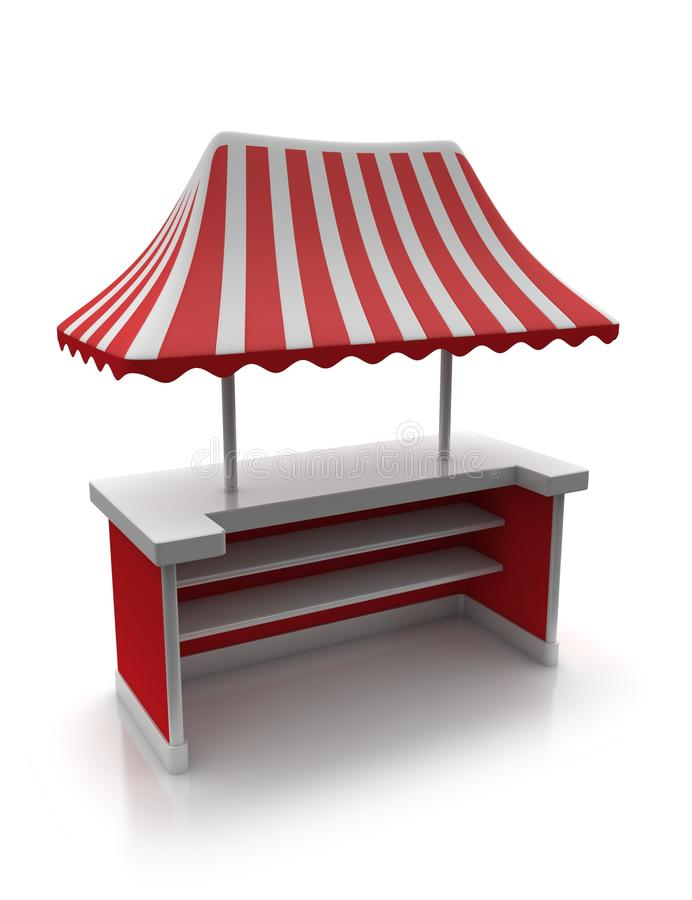 Tente rouge du marché illustration de vecteur