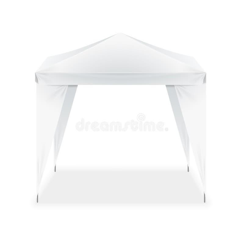 Tente se pliante blanche de blanc réaliste de calibre Vecteur illustration de vecteur
