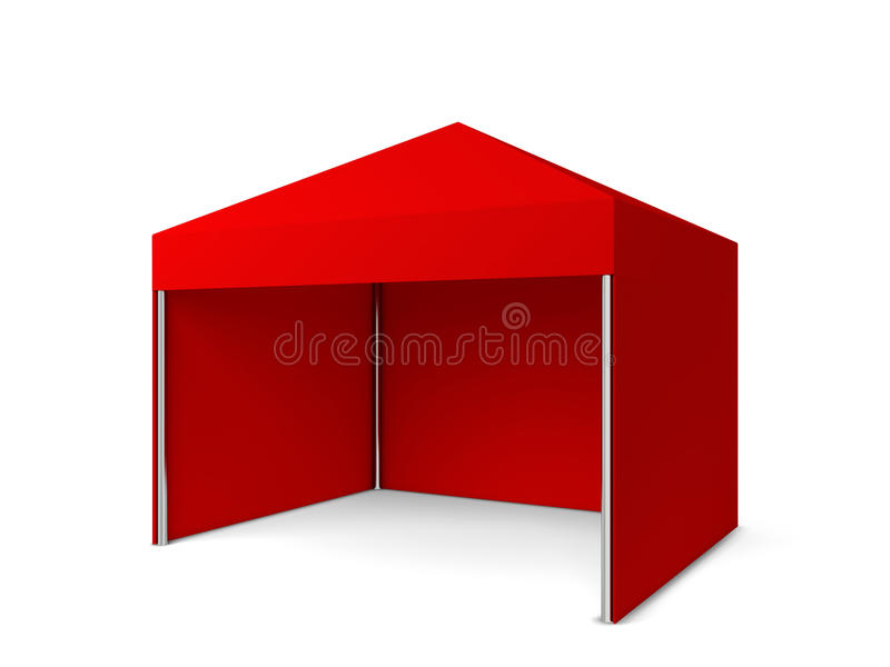 Tente vide illustration stock