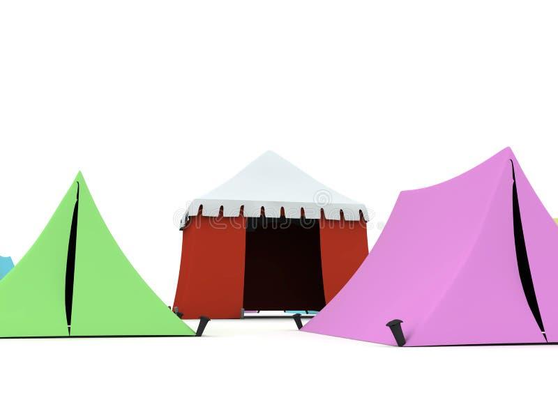 Download Tentes colorées illustration stock. Illustration du chapiteau - 8657169