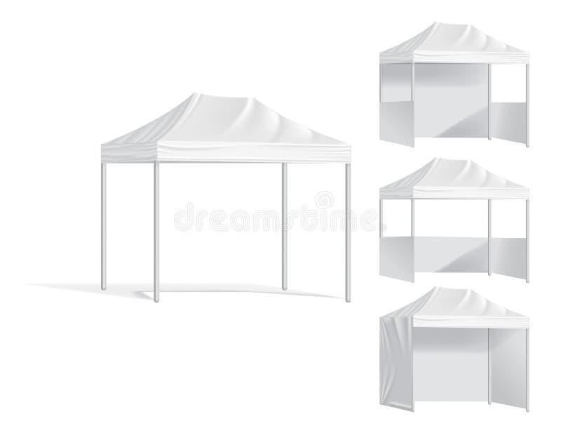 Tentes mobiles extérieures promotionnelles Raillez vers le haut du calibre vide d'annoncer la tente mobile illustration libre de droits