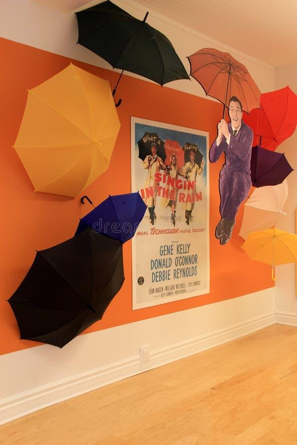 Tentoongesteld voorwerp die Gene Kelly, Nationaal Museum vieren van Dans, Saratoga, New York, 2015 stock foto