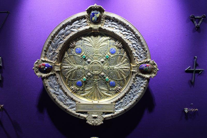 Tentoongesteld voorwerp in ional DE Istorie van Muzeul Naț een Nationaal Museum van României van Roemeense Geschiedenis Bucares stock afbeeldingen