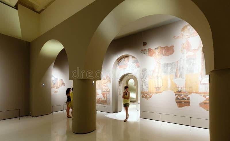 Tentoongestelde voorwerpen van Nationaal Art Museum van Catalonië royalty-vrije stock afbeeldingen
