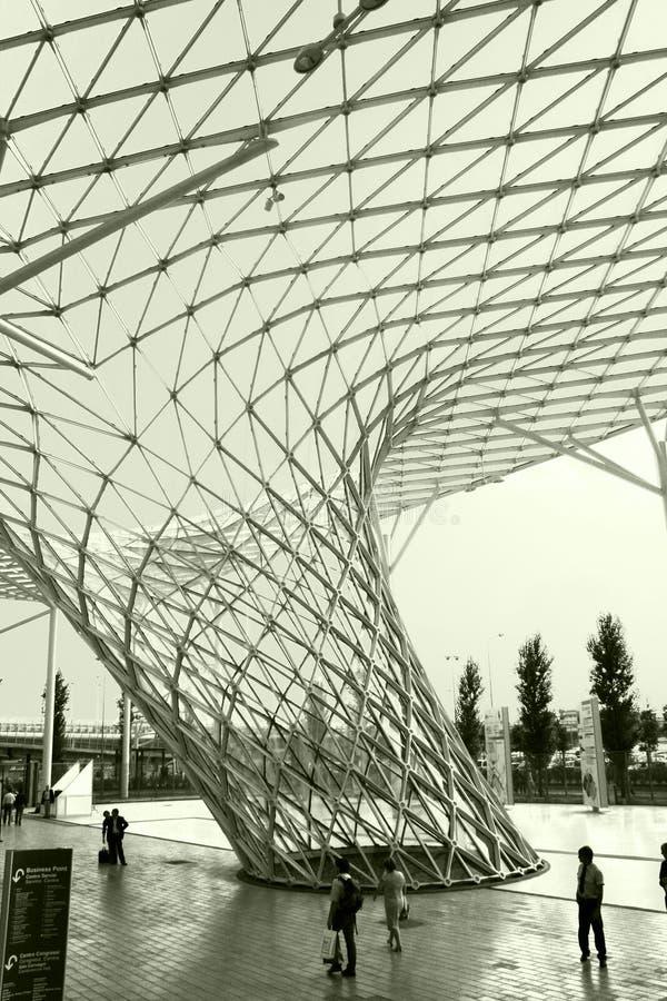 Tentoonstelling Aerea van Milaan stock fotografie