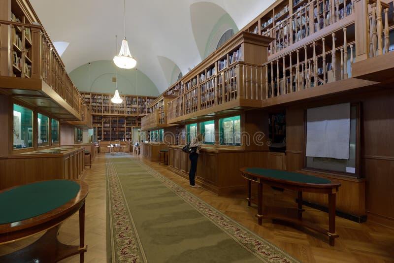 Tentoonstelling in de Nationale Bibliotheek van Rusland royalty-vrije stock afbeeldingen