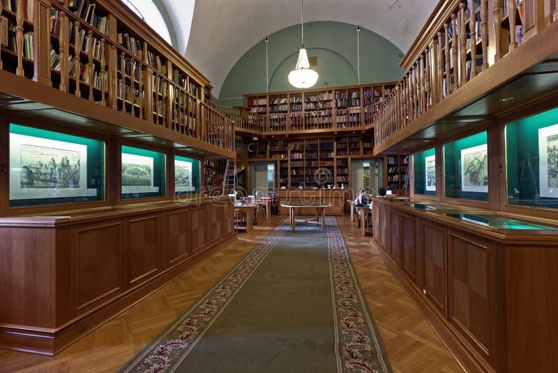 Tentoonstelling in de Nationale Bibliotheek van Rusland royalty-vrije stock fotografie