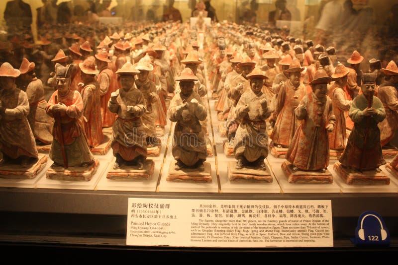 Tentoonstelling in een Museum van Geschiedenis stock afbeeldingen