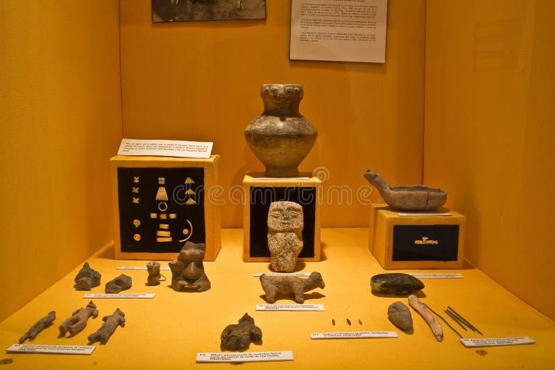 Tentoonstelling van Archeologisch Museum in Manabi royalty-vrije stock fotografie