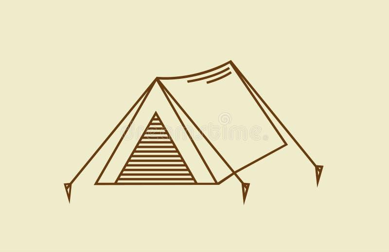 Tentpictogram royalty-vrije stock afbeelding
