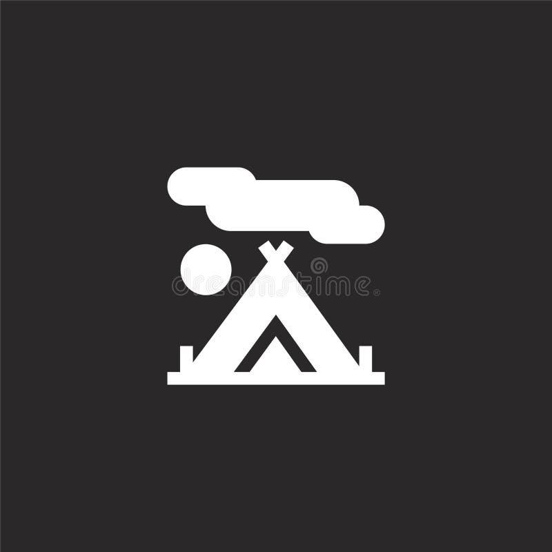 Tentpictogram Gevuld tentpictogram voor websiteontwerp en mobiel, app ontwikkeling tentpictogram van gevulde hobbys en freetime i stock illustratie