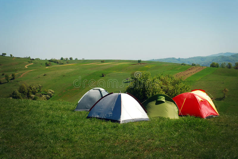 Download Tents stock image. Image of field, outdoor, camping, trekking - 24553877