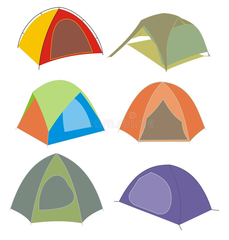 Download Tents stock vector. Image of illustration, tent, home - 5645756