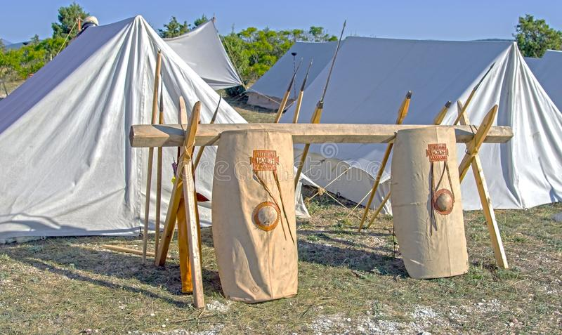 Download Tents In An Ancient Roman Military Enc&ment Stock Image - Image 104017339 & Tents In An Ancient Roman Military Encampment Stock Image - Image ...