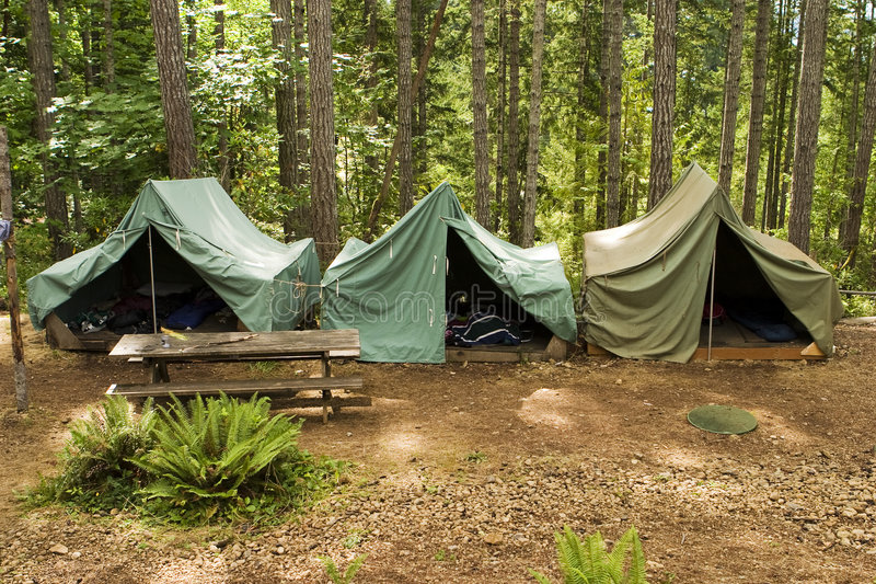 Download Tents At Boy Scout Camp stock image. Image of parsons - 2904207