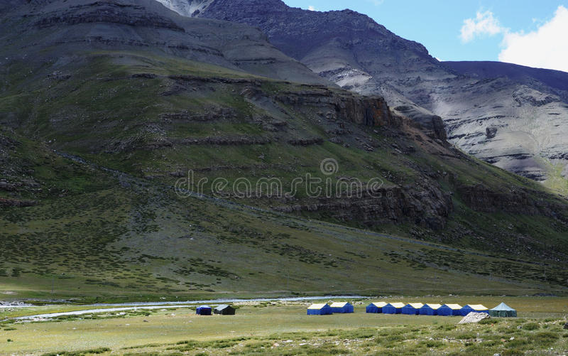 Download Tents Under Mountains Stock Photo - Image: 21173240