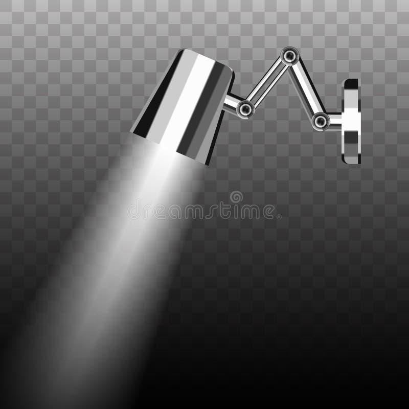 Tenture plaquée par chrome économiseur d'énergie fluorescent Mobil en métal illustration de vecteur